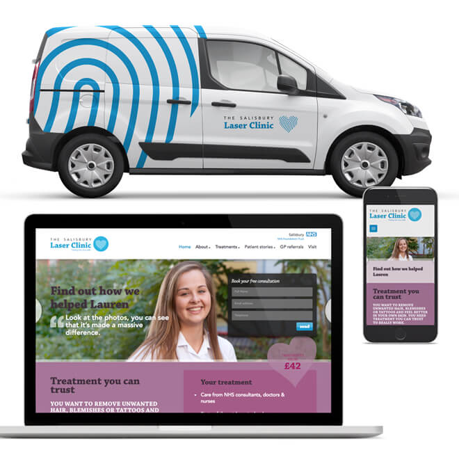 Brand positioning for NHS - Salisbury Laser Clinic Homepage